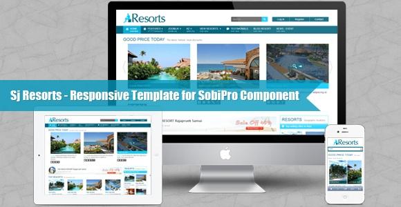 Joomla Template: SJ Resorts - Professional responsive Joomla travel template