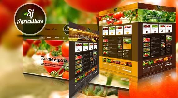 Joomla Template: SJ Agriculture - Farm Joomla template for VirtueMart