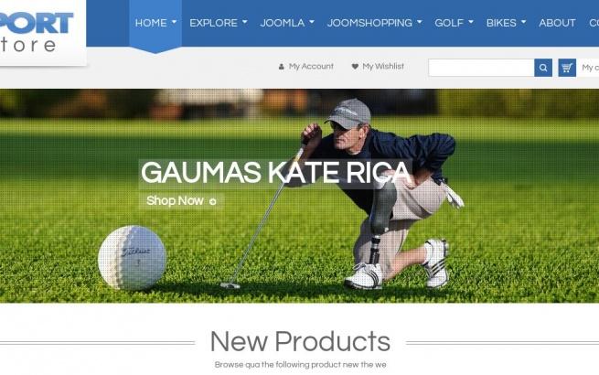 Joomla Template: SJ Sport Store - Responsive Joomla Template