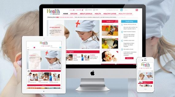Joomla Template: SJ Health - Health & medical website template for Joomla