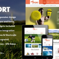 Wordpress Premium Theme - SW Sport - Responsive WordPress Theme