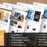 SmartAddons Joomla Template: SJ Market - Multlpurpose eCommerce Joomla Theme for VirtueMart 3