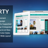 Joomla Premium Template - SJ Perty - Responsive Joomla template for news/magazine sites
