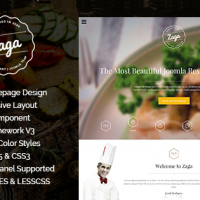 SmartAddons Joomla Template: SJ Zaga - Awesome Onepage Design for Restaurant Sites