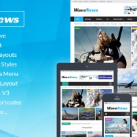 SmartAddons Joomla Template: SJ WaveNews - Professional News Portal Joomla Template