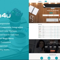 Joomla Premium Template - SJ Job4u - Stunning Joomla Template for Job Board Websites