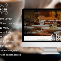SmartAddons Joomla Template: SJ Blossom - Responsive Joomla Template For Restaurant/Food store