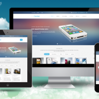 SmartAddons Joomla Template: SJ iCenter - Responsive technology template with flat design