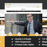 SmartAddons Joomla Template: SJ Justice - Law Firm Business Joomla Template