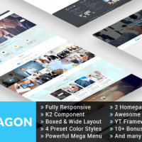 Joomla Premium Template - SJ Hexagon - Awesome Business/Corporat Joomla Template
