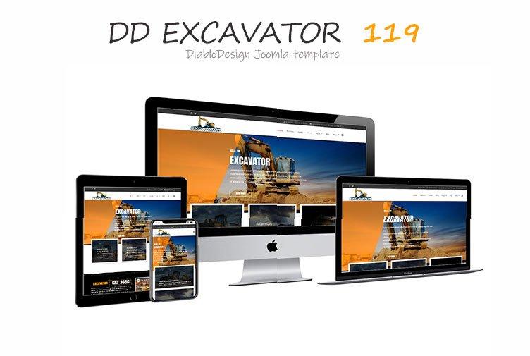 Joomla Template: DD Excavator 119