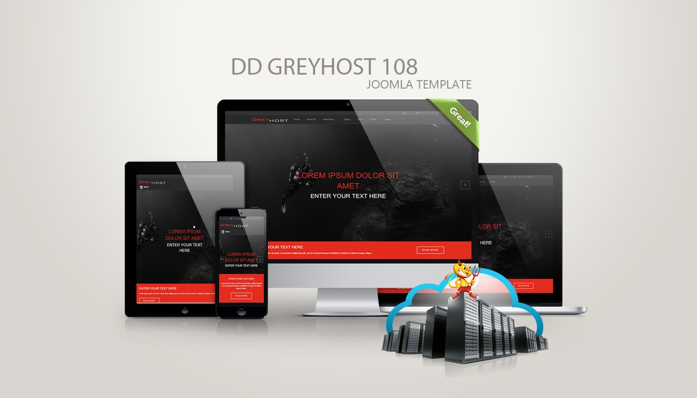 Joomla Template: DD GreyHost 108