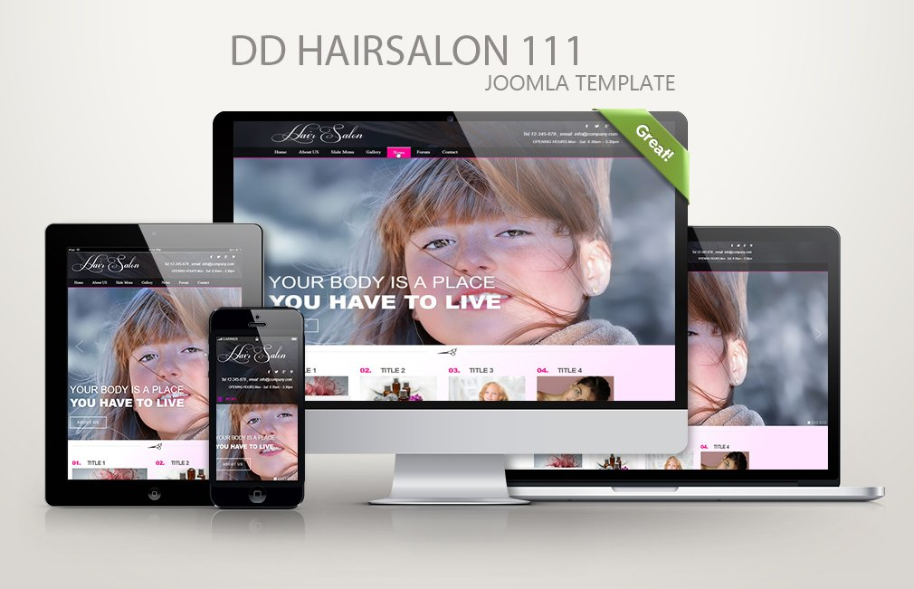 Joomla Template: DD HairSalon 111