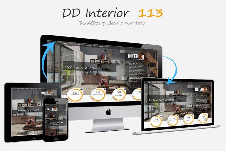 Joomla Template: DD Interior 113