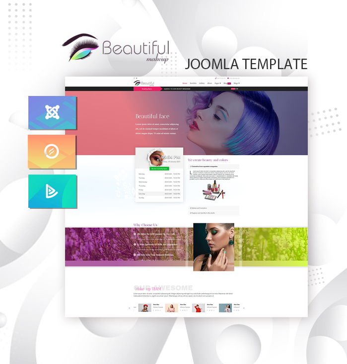Joomla Template: DD MAKEUP-STUDIO 123 - Joomla template for beauty salons