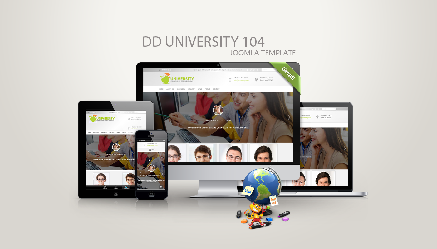 DD university 104 - joomla Template - DiabloDesign
