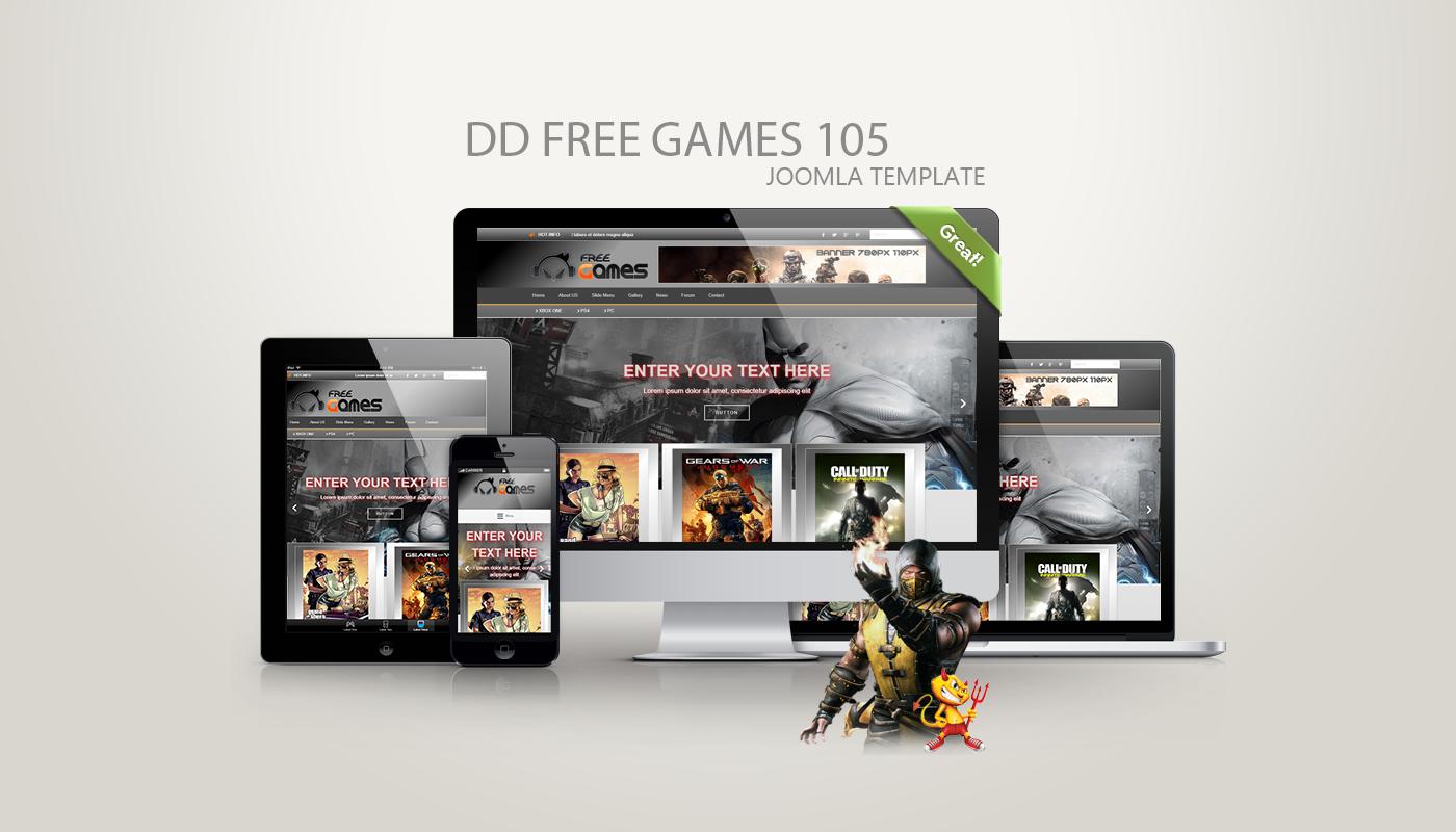 Joomla Template: DD FreeGames 105