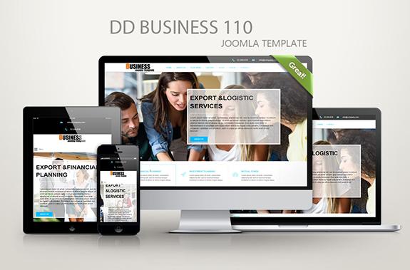 Joomla Template: DD Business 110