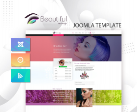 Joomla Templates: DD MAKEUP-STUDIO 123 - Joomla template for beauty salons