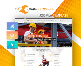Joomla Templates: DD HomeServices 125 - Joomla template for construction, renovation companies