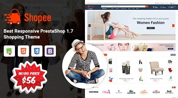 Prestashop Template: SP Shopee - Multipurpose Responsive PrestaShop 1.7 Shopping Theme