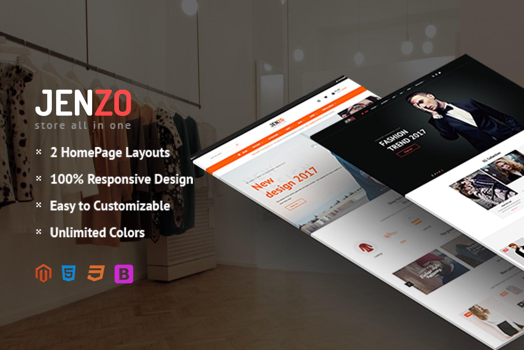 Magento Template: SM Jenzo - Multipurpose Premium Magento 2 Theme