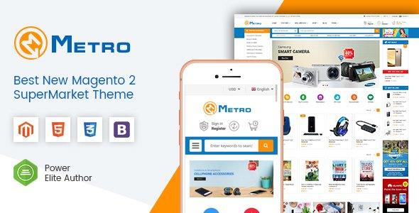 Magento Template: Metro - Multipurpose Responsive Magento 2 MarketPlace Theme