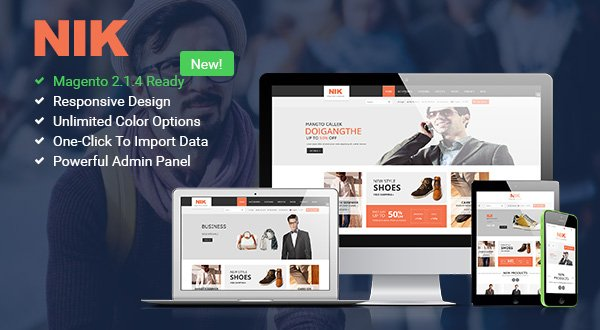 Magento Template: SM Nik - Responsive Magento 2.2.x and 1 Theme for Fashion