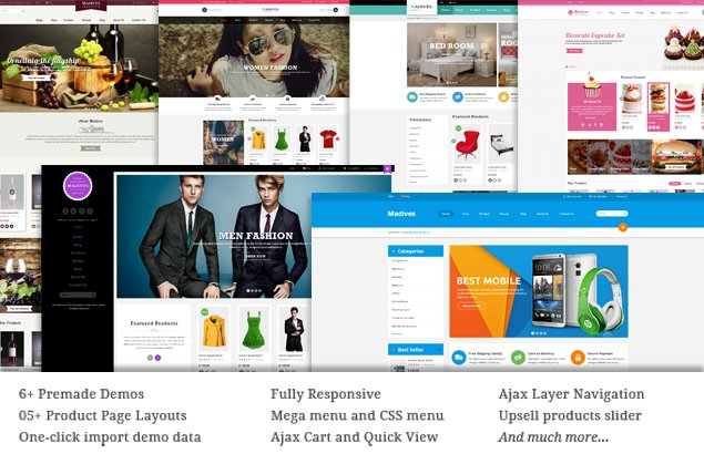 Magento Template: SM Madives - Responsive Multipurpose Theme for Magento 1x