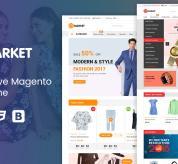 magentech Magento Template: SM Smarket - Fluid Responsive Magento Theme