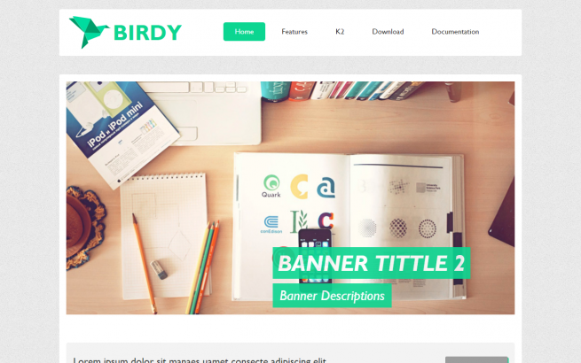 Joomla Template: AT Birdy - Joomla Template