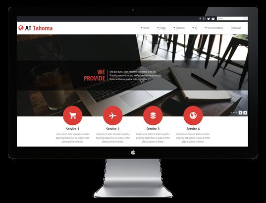 Joomla Template: AT Tahoma - Responsive Joomla Template