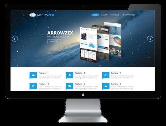 Joomla Template: AT Arrowzex - Responsive Joomla Template