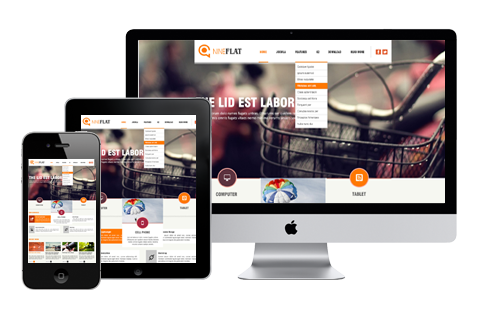 Joomla Template: AT Nine Flat - Responsive Joomla Template