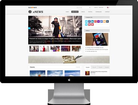Joomla Template: AT Enews - Responsive Joomla Template