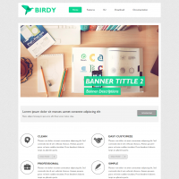 Joomla Free Template - AT Birdy - Joomla Template