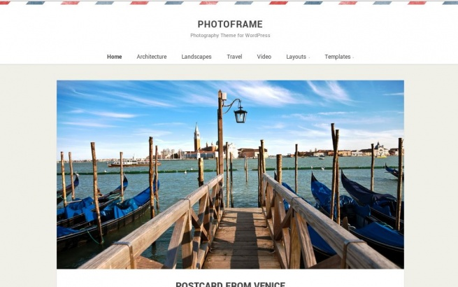 Wordpress Theme: Photo Frame