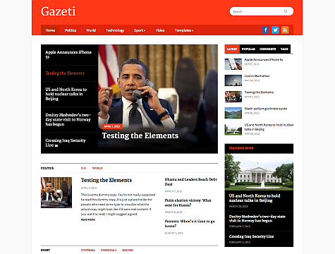 Wordpress Theme: Gazeti