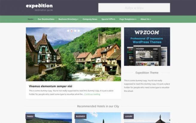 Wordpress Theme: Expedition