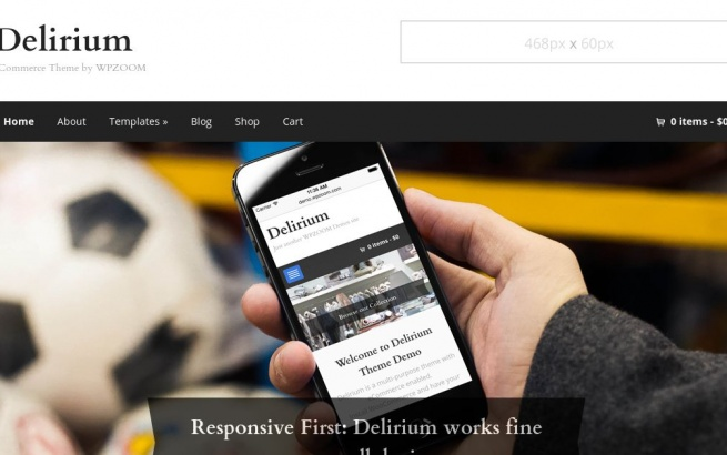 Wordpress Theme: Delirium