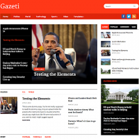 Wordpress Free Theme - Gazeti