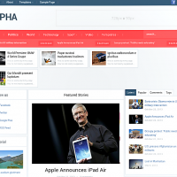 Wordpress Free Theme - Alpha