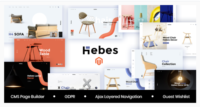 Magento Template: Hebes - Multipurpose Magento 2 Theme