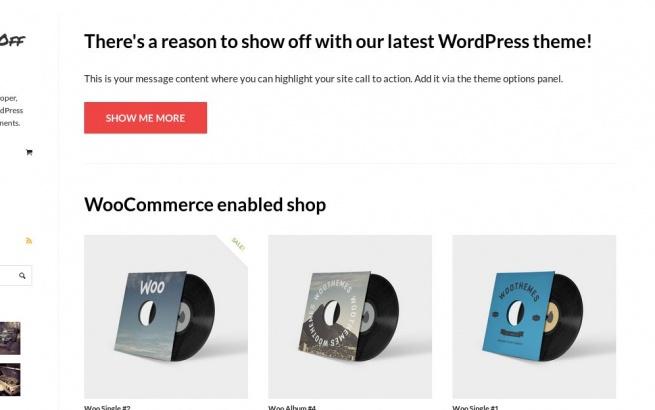 Wordpress Theme: Show Off