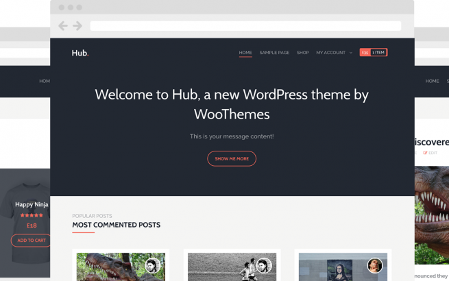 Wordpress Theme: Hub