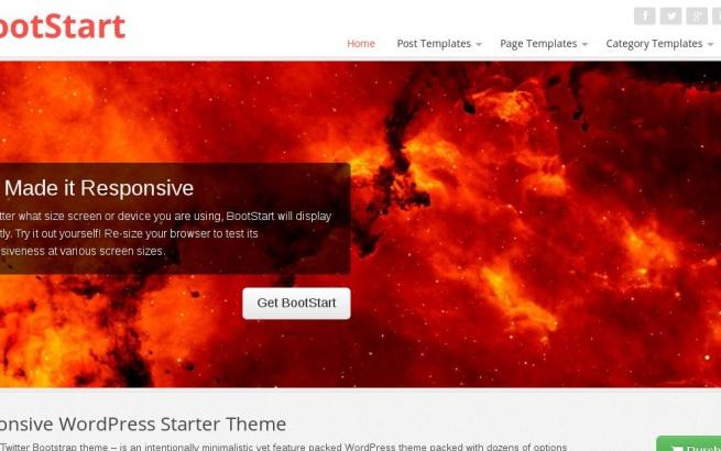 Wordpress Theme: BootStart