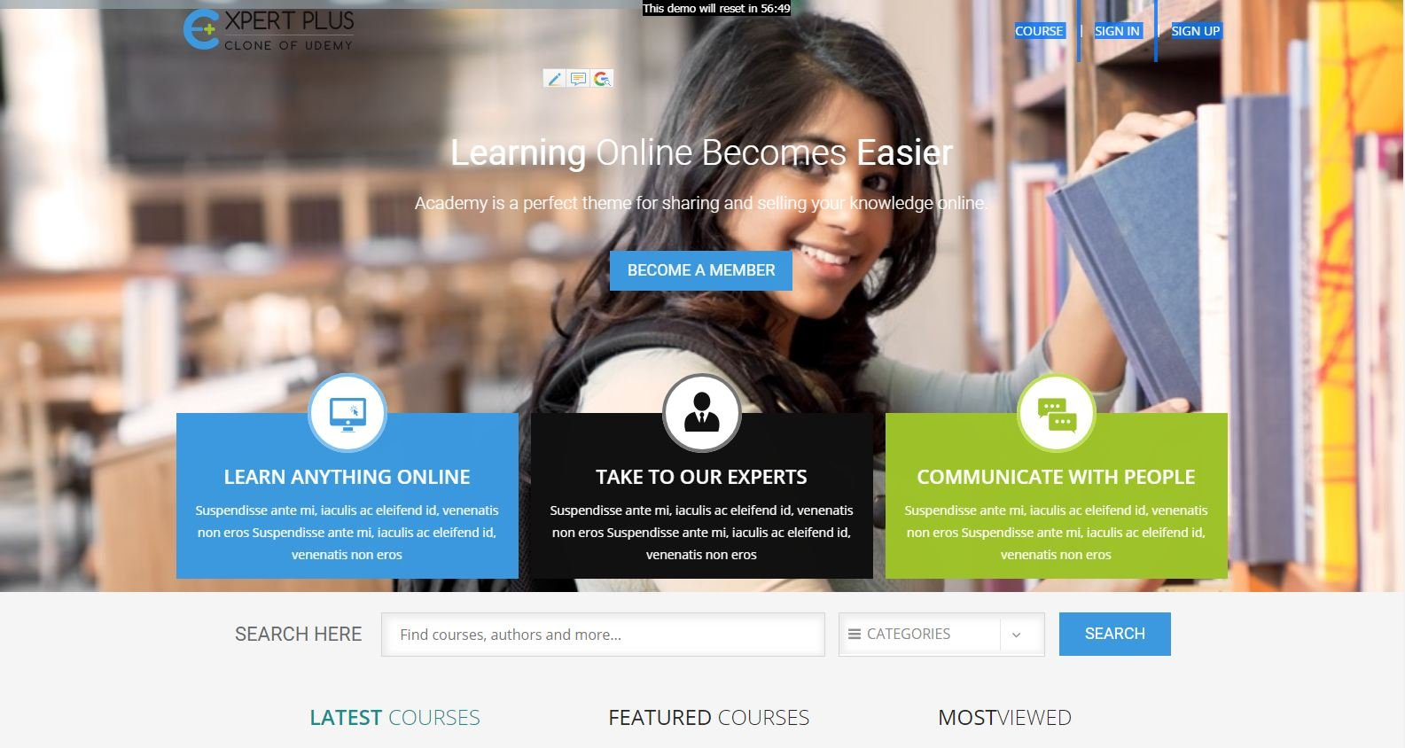 Joomla Template: Udemy Clone - BSEtec | Create Your E-Learning Platform