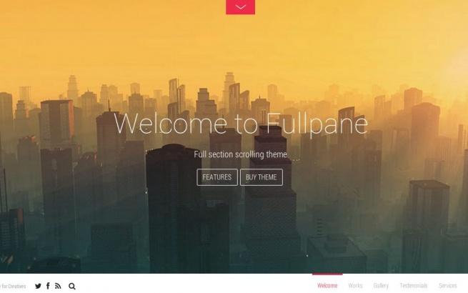 Wordpress Theme: Fullpane
