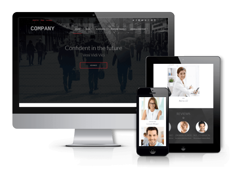 Joomla Template: OS Company - Business Joomla template