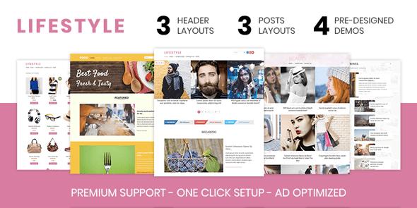 Wordpress Theme: Lifestyle – Elegant WordPress Theme